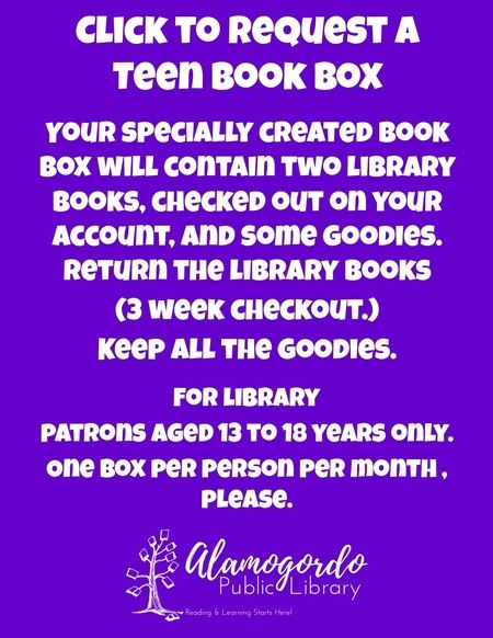 Request a teen book box flyer